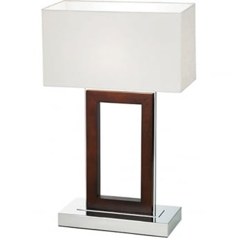 Endon Lighting Portal 1Lt Dark Wood 60W Table Light (0195-DW)