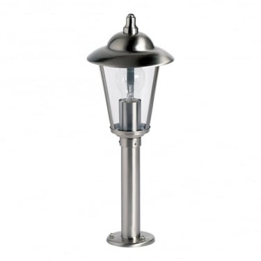 Endon Lighting Klien Polished Stainless Steel 1Lt Outdoor Post Floor Light with Clear Plastic (YG-863-SS)
