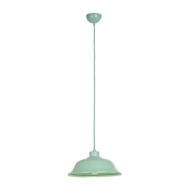 Laughton Light Green Paint 1Lt Indoor Pendant Light with Chrome Trim (LAUGHTON-GR)