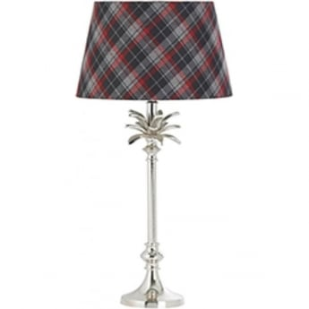 Endon Lighting Leaf Polished Nickel 1Lt Indoor Table Lamp (EH-LEAF-TL-S)