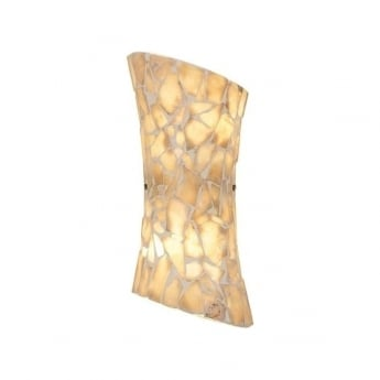 Endon Lighting Marconi Natural Stone Mosaic Warm White 2Lt Wall Light