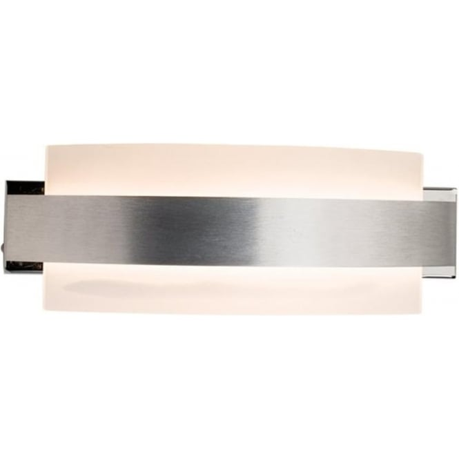 Endon Lighting Matson Brushed Aluminium & Frosted Glass 5W Wall Light