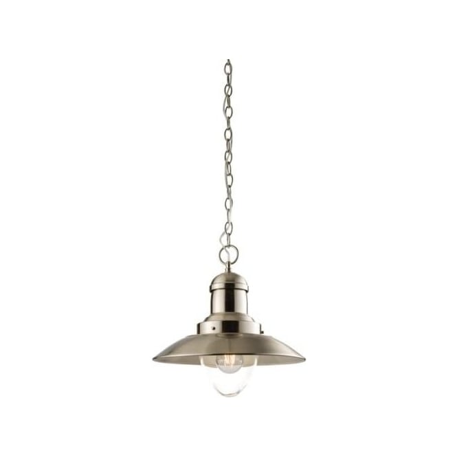 Endon Lighting Mendip Satin Nickel Warm White 1Lt Pendant Light