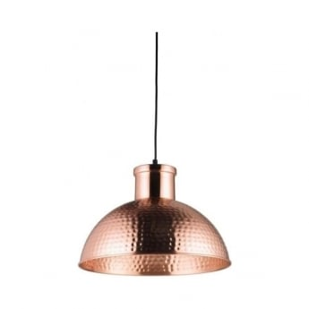 Endon Lighting Parina Copper Plate Warm White 1Lt Pendant Light