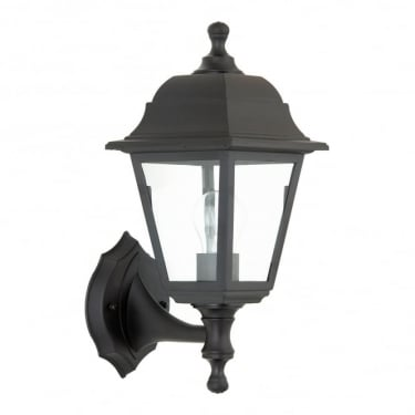 Endon Lighting Pimlico Black 1Lt Outdoor Non-Automatic Wall Light with Clear Glass (EL-40042)