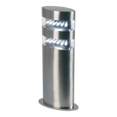 Endon Lighting Radian Polished Stainless Steel 1Lt Outdoor Post Floor Light with Clear Plastic (YG-4002-SS)