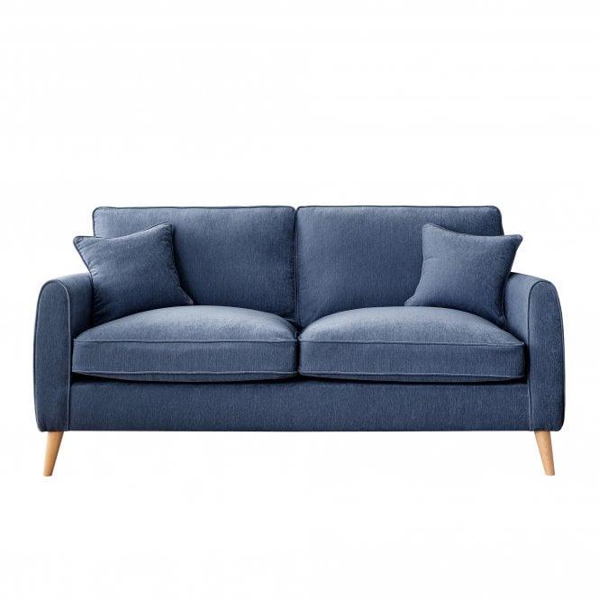 Enfield 3 Seater Sofa, Manhattan Navy Velvet