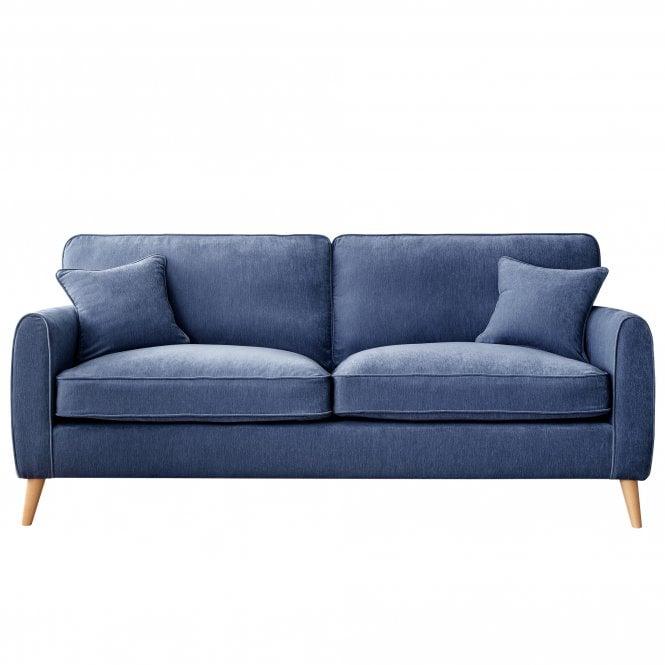 Enfield 4 Seater Sofa, Manhattan Navy Velvet