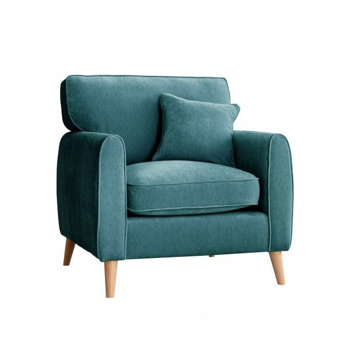 Enfield Armchair, Manhattan Emerald Velvet