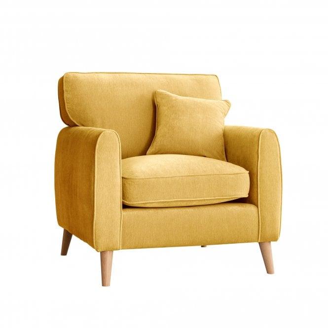 Enfield Armchair, Manhattan Gold Velvet