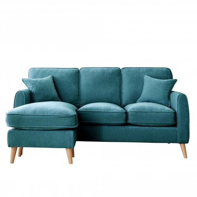 Enfield Left Handed Chaise Longue Sofa, Manhattan Emerald Velvet