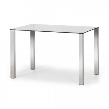 Enzo Dining Table, Clear Glass