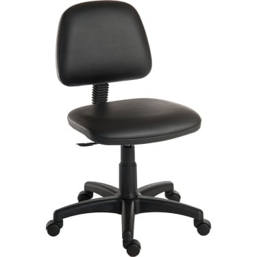Teknik Ergo Blaster Black PU Operator Chair with Nylon Base (1100PUBLK)