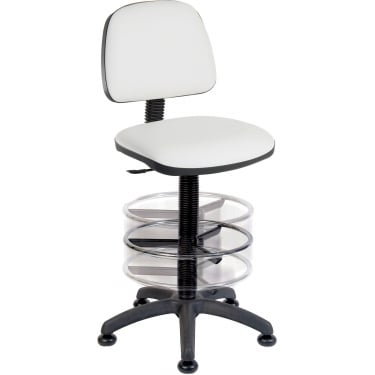 Ergo Blaster White PU Deluxe Draughter Chair