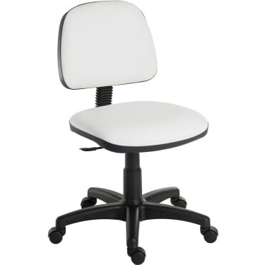 Teknik Ergo Blaster White PU Operator Chair with Nylon Base (1100PUWH)
