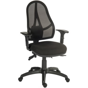 Ergo Comfort Black Executive Operator Chair with Nylon Base