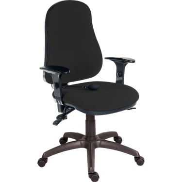 Ergo Comfort Black Executive Operator Chair with Steel Base