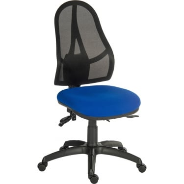 Ergo Comfort Blue Executive Operator Chair with Nylon Base
