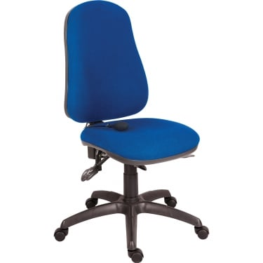 Ergo Comfort Blue Executive Operator Chair with Steel Base