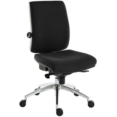 Ergo Plus Black Operator Chair with Aluminium Pyramid Base