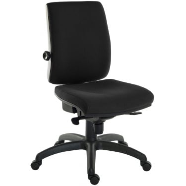 Ergo Plus Black Operator Chair with Nylon Base