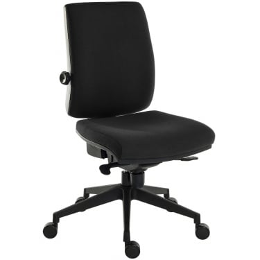 Ergo Plus Black Operator Chair with Nylon Pyramid Base