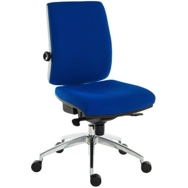 Ergo Plus Blue Operator Chair with Aluminium Pyramid Base