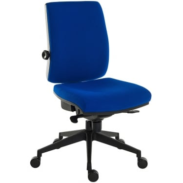 Ergo Plus Blue Operator Chair with Nylon Pyramid Base