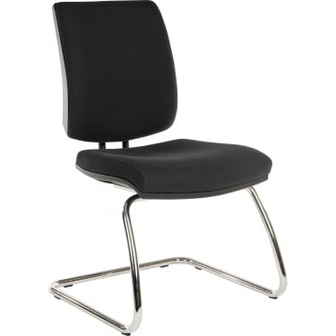 Ergo Visitor Black Visitor Chair with Chrome Frame