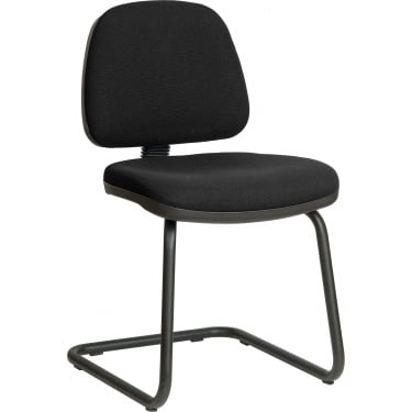 Ergo Visitor Black Visitor Chair with Steel Frame