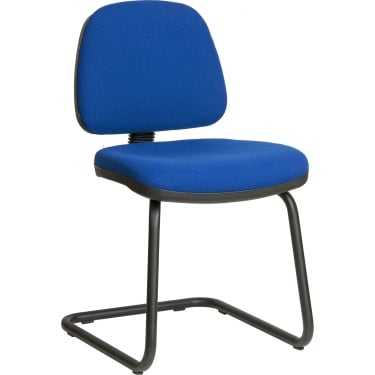 Teknik Ergo Visitor Blue Visitor Chair with Chrome Frame (9300BL)