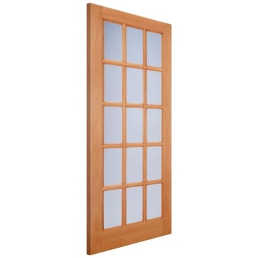 LPD Doors External Hardwood SA77 Door with Double Glazed Frosted Glass (M&T)