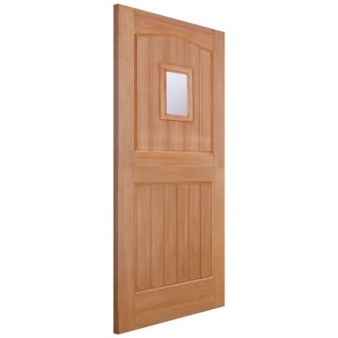 LPD Doors External Hardwood Stable 1L Door with Double Glazed Clear Glass (M&T)