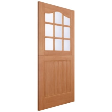 LPD Doors External Hardwood Stable 9L Door with Double Glazed Clear Glass (M&T)