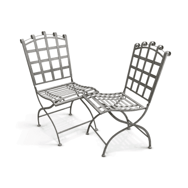 Felbrigg Galvanised Metal Folding Chairs (Pair)