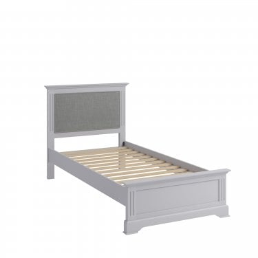Finley Single Low End Bed, Moonlight Grey