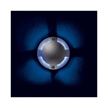 Firstlight Aluminium 12Lt 4 Way Walkover Floor Light with 1w Blue LED's (8245AL)