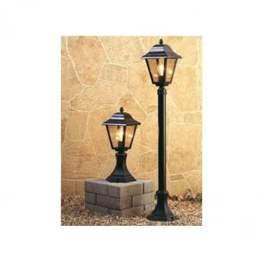 Firstlight Black 4 Panel Lantern Pillar