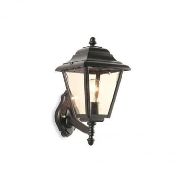 Firstlight Black 4 Panel Lantern Uplight