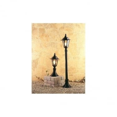 Firstlight Black 6 Panel Lantern Pillar