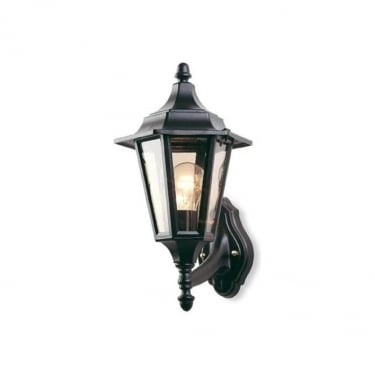 Firstlight Black 6 Panel Lantern Uplight