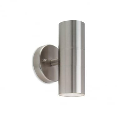 Firstlight Fusion Stainless Steel 2Lt Wall Light (5615ST)