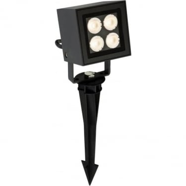 Firstlight Graphite 4Lt Wall & Spike Spot Light with 8w White CREE LED's (2336GP)
