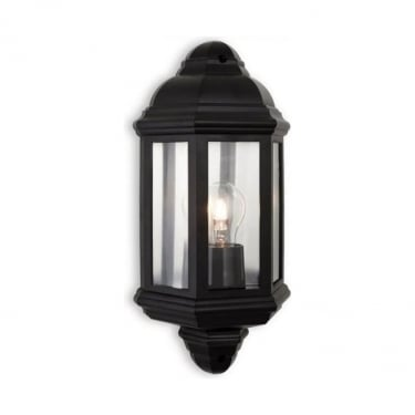 Firstlight Park Black Polycarbonate 1Lt Wall Light (8655BK)