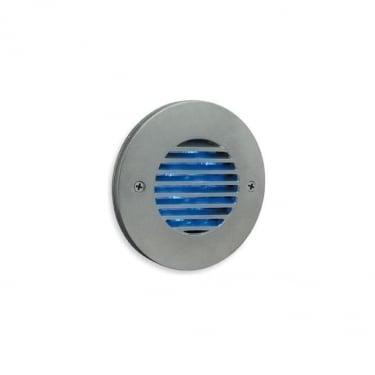 Firstlight Satin Steel 12Lt Wall & Step Light with 0.8w Blue LED's (5649SS)