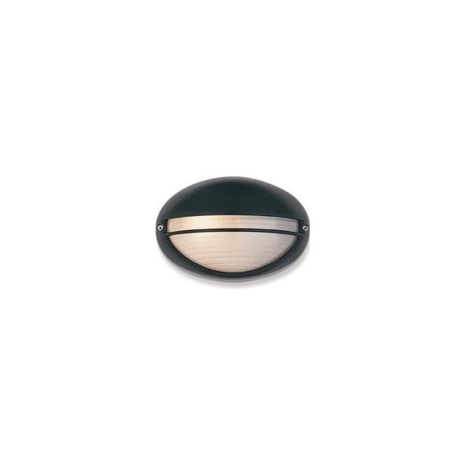 Firstlight Streamline Half Moon Black Outdoor Wall Light - 100w Leaders Stores