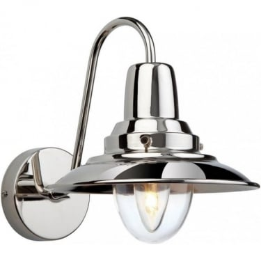 Firstlight Fisherman Chrome Wall Light