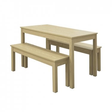 Fjord Dining Set Of 3, Light Oak
