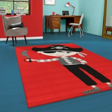 Forever Rugs Flair 33122-110 Red Pirate Rug