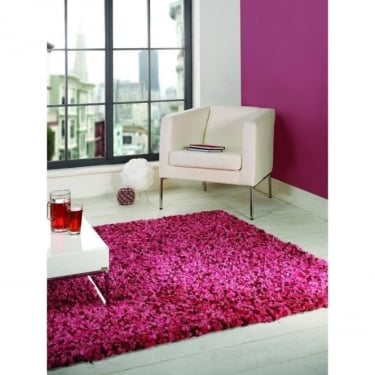 Flair Rugs Fondant Truffle Pink Shaggy Rug